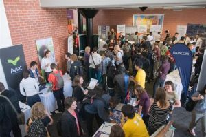 A scene from a Victoria University Careers Expo