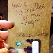 Buy someone a coffee - Random act of kindness