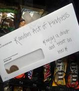 Enjoy a treat on me - Random act of kindness