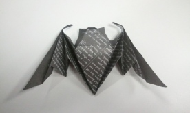 Origami bat (designed by Michael LaFosse)