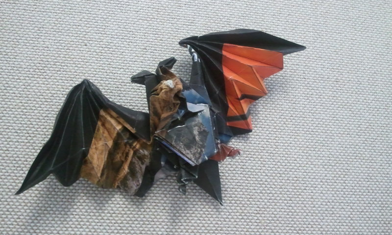 Origami Bat Diagram Origami Bat Designed by