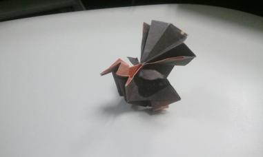 Origami turkey (designed by Gen Hagiwara)
