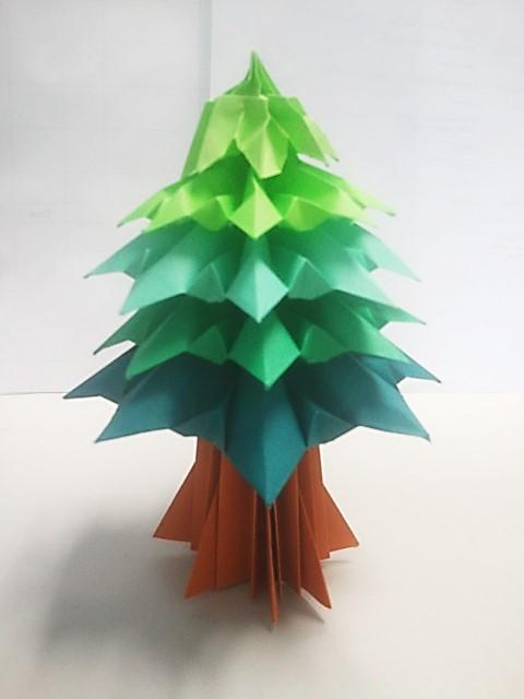 Origami Christmas tree (tabletop)