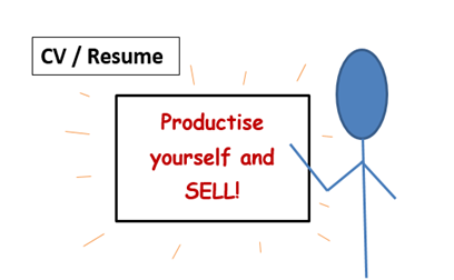 CV - Productise and sell yourself